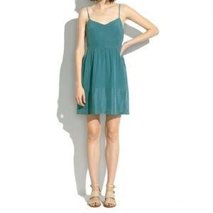 Madewell // Teal Silk Bordershine Cami Dress 6